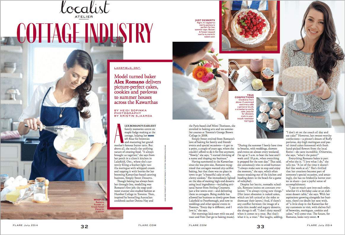 About Baking for Friends, Alie Romano - Flare Magazine