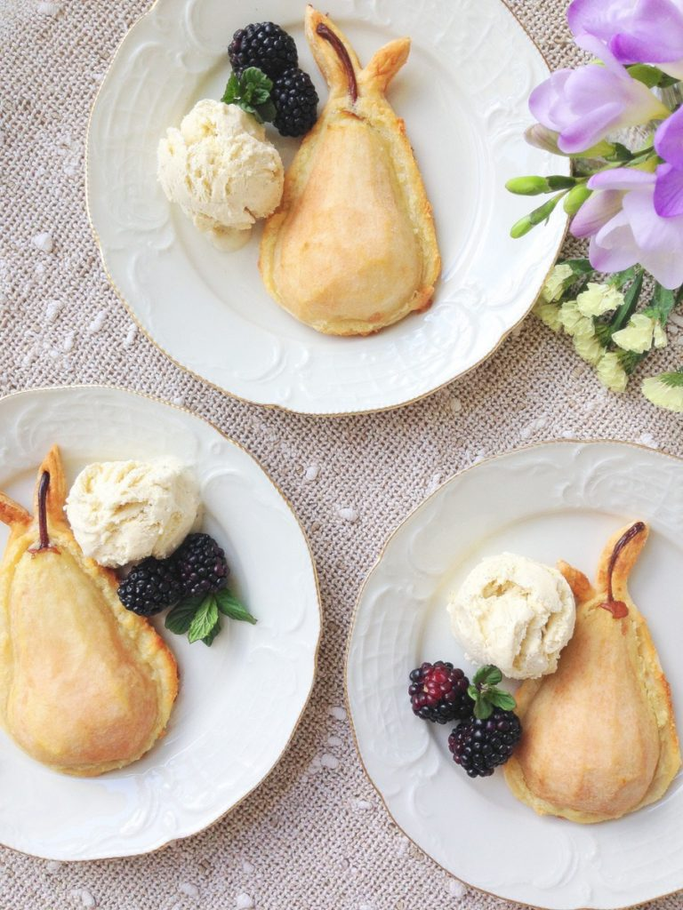 poached pear tart puff pastry. Mothers Day Poached Pear Tarts, using ...