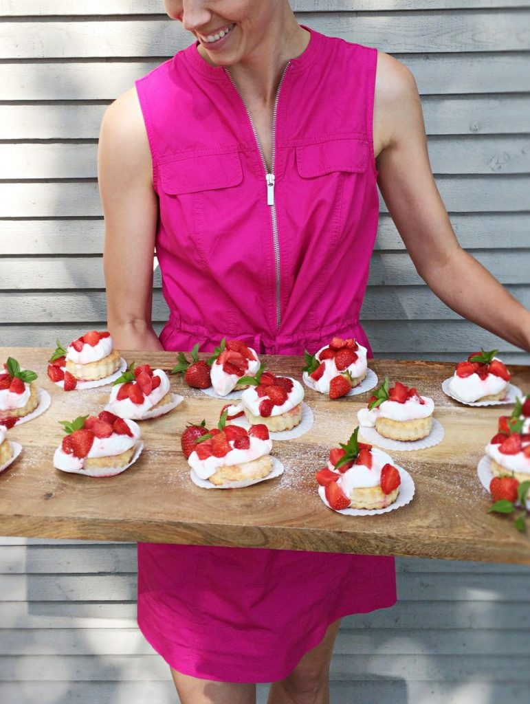 The classic old fashioned strawberry shortcake! From the farm, fresh ...