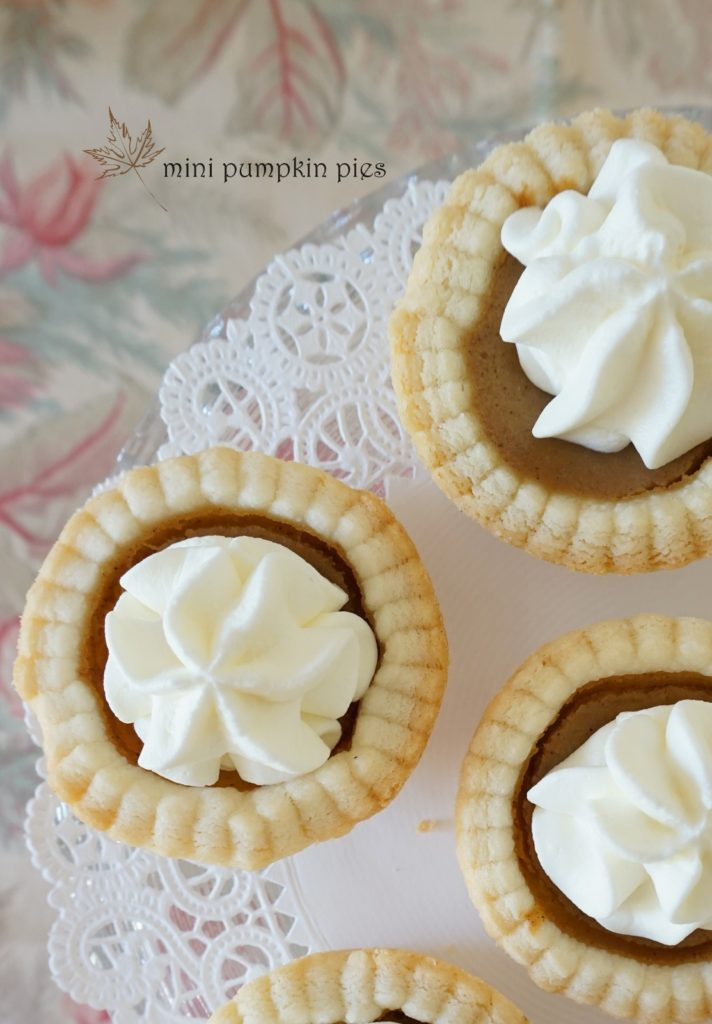 Mini Pumpkin Pie Recipe by Baking for Friends. A little twist on the traditional pumpkin pie. These adorable bite size mini pumpkin pies are the perfect treat to finish off that heavy Thanksgiving dinner