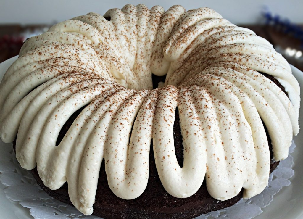 Chocolate Spice Bundt Cake - This chocolate spice bunt cake was the perfect fall treat to celebrate my brother's birthday! With cinnamon, nutmeg & cloves the spices complimented