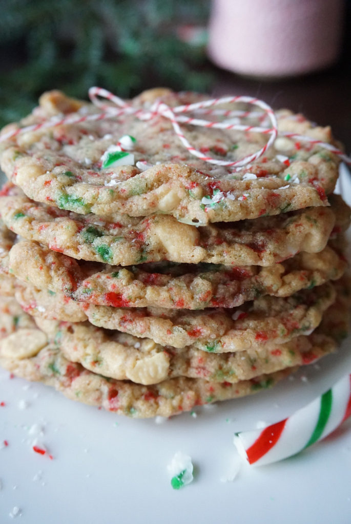 Super addictive, chewy, minty and festive; I just love making these candy cane cookies for Christmas . www.bakingforfriends.com