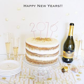 This Champagne Cake is the perfect make ahead cake to ring in the New Year (and to impress your guests)! I had so, so much fun making this cake ...