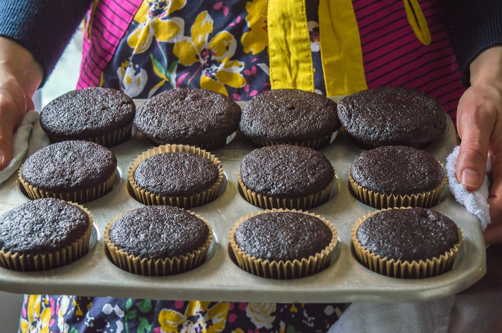 Dairy Free Chocolate Cupcakes by Food Blogger Laila Sbeinati
