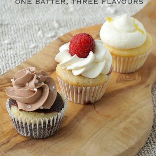 One batter cupcake, 3 Flavours.