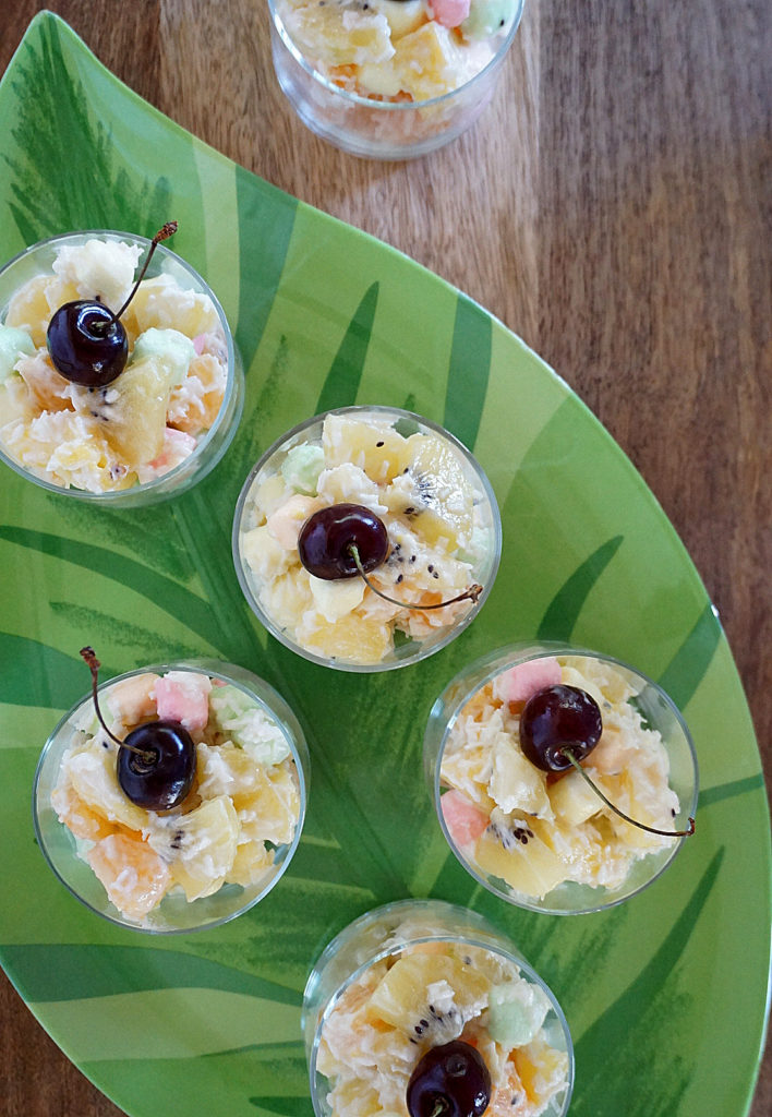 Ambrosia Salad - a modern spin on a retro dessert using SunGold kiwifruit