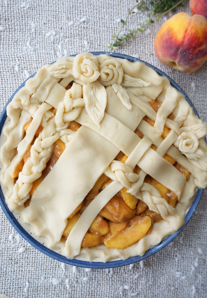 The prettiest peach pie ever!