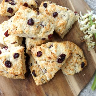 Coconut & Cranberry Scones