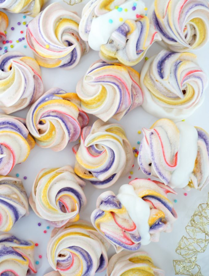 Sweet little Rainbow Meringues perfect for Spring :) Gluten Free Treats