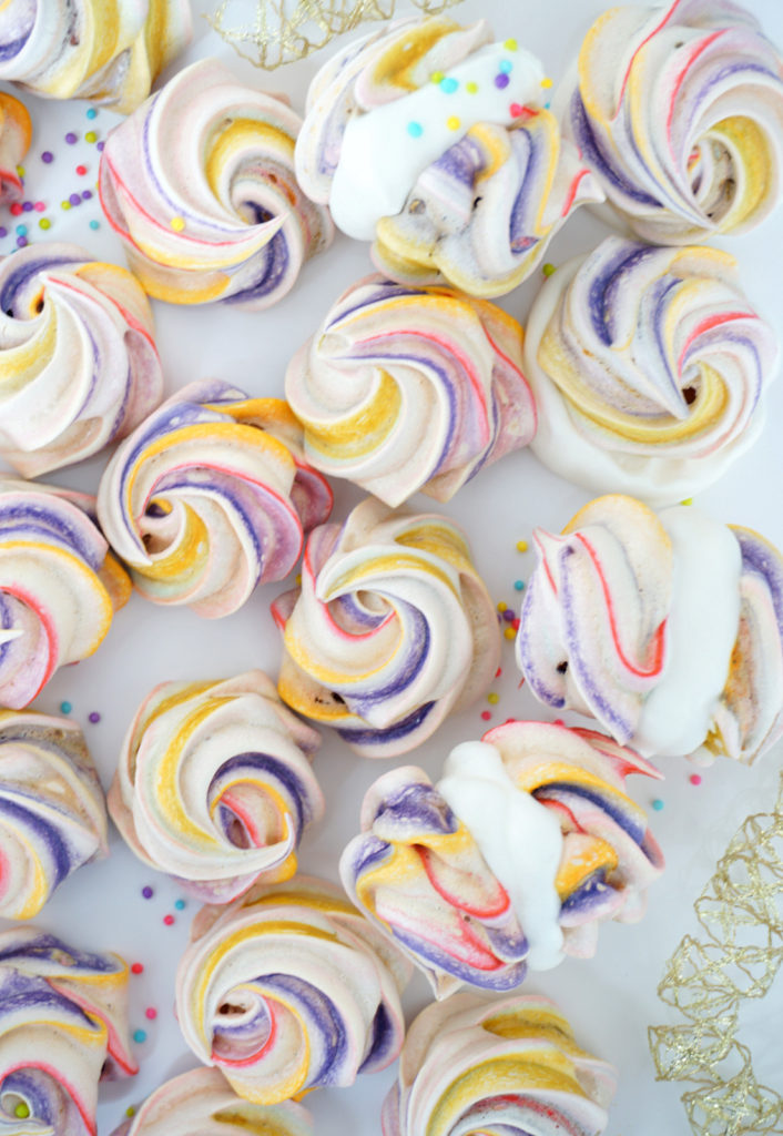Sweet Little Rainbow Meringues, perfect for Spring :) Gluten Free Treats