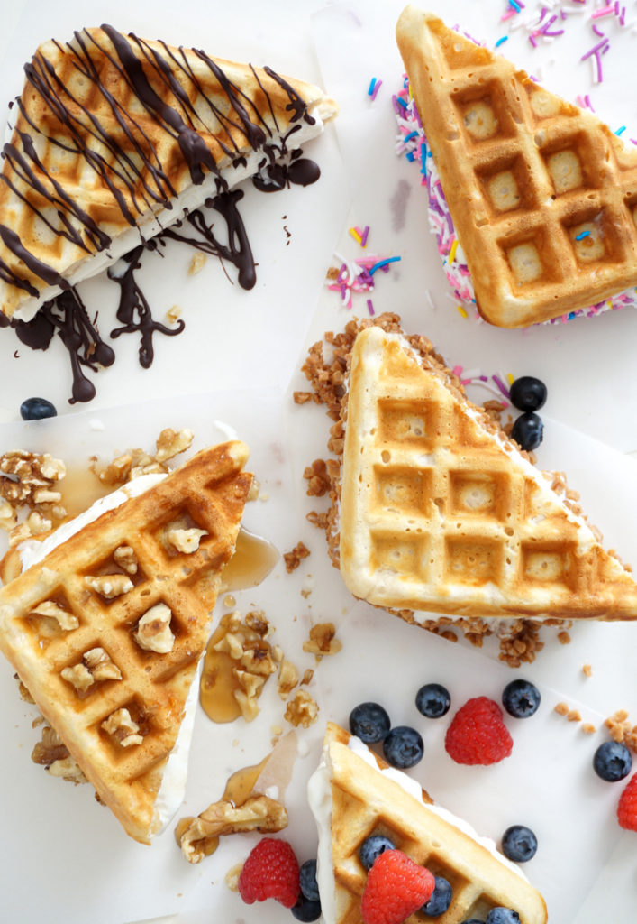 Fun summer treats; Learn hoe to make homemade ice-cream waffle sandwiches