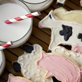 Farm Shaped Sugar Cookies