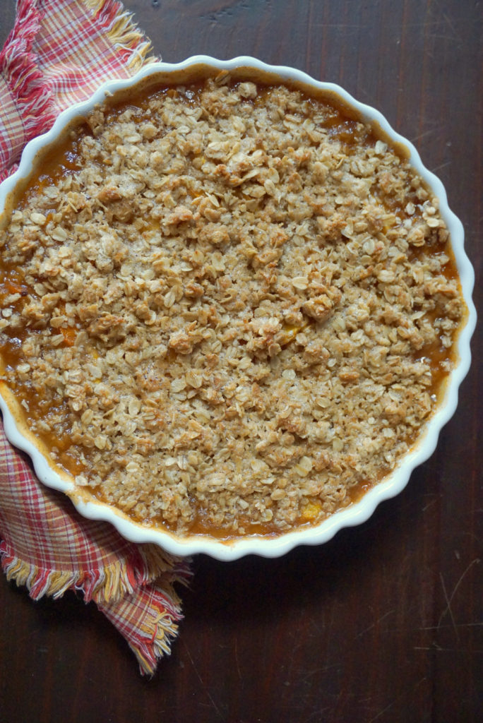 Peach and Apricot Crumble