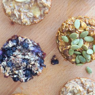 Oatmeal Breakfast Cups: 1 recipe 3 ways!