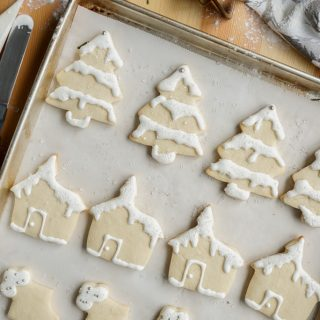 Christmas sugar cookies, simple cookies, holiday baking, cookies, royal icing,